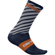Castelli Free Kit 13 Socks - Midnight Navy/Orange