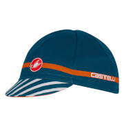 Castelli Free Cycling Cap - Midnight Navy/Orange - One Size