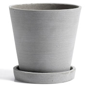 HAY Flowerpot with Saucer - Medium - Grey