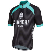 Bianchi Meja Short Sleeve Jersey - Black/Green