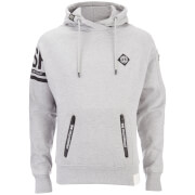 Crosshatch Herren Boost Hoody - Light Grey Marl