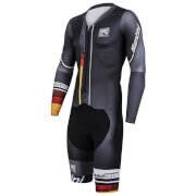 Santini Speed Shell Road Speed Suit - Grey/Red