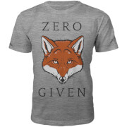 Zero Fox Given Slogan T-Shirt - Grey