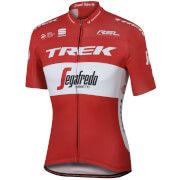 Sportful Trek-Segafredo BodyFit Pro Team Austrian Champion Short Sleeve Jersey - White/Red