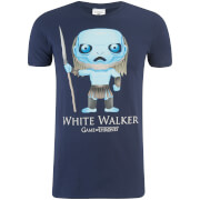 Game of Thrones Männer Weiß Walker Funko T-Shirt - Navy