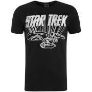 T-Shirt Homme Star Trek Enterprise Logo - Noir