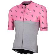 Nalini San Babila Short Sleeve Jersey - Grey/Pink