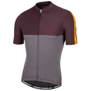 Nalini Mantova Short Sleeve Jersey - Grey/Orange