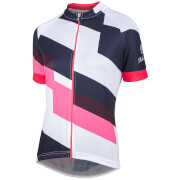 Nalini Women's Stripe Short Sleeve Jersey - White/Pink