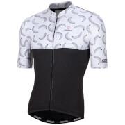 Nalini San Babila Short Sleeve Jersey - Black/White