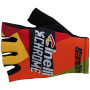 Santini Cinelli Chrome 17 Race Gloves - Yellow/Black