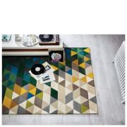Flair Illusion Prism Rug - Green/Multi