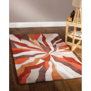 Flair Infinite Splinter Rug - Orange