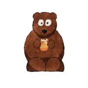 Flair Plush Animals Rug - Bertie Bear Brown (60X90)