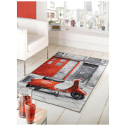 Flair Matrix Themes Rug - Vacation Grey/Red (100X160)
