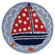 Flair Kiddy Play Rug - Ship Ahoy Blue (90X90)