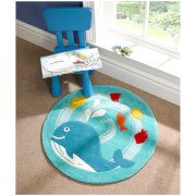 Flair Kiddy Play Rug - Whale Blue (90X90)