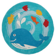 Flair Kiddy Play Rug - Whale Blue (90X90)
