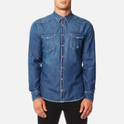 BOSS Orange Men's Erodio Denim Shirt - Blue