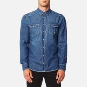 BOSS Orange Men's Erodio Denim Shirt - Blue
