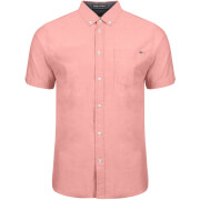 Tokyo Laundry Men's Woodbury Short Sleeve Oxford Shirt - Soft Peach