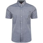 Tokyo Laundry Men's Woodbury Short Sleeve Oxford Shirt - Midnight Blue