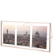 "Umbra Prisma Three Photo Frame Display - Copper - 6 x 4"""
