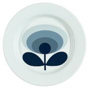 Orla Kiely Enamel Plate 70's Flower - Slate