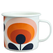 Orla Kiely Enamel Mug 70's Flower - Permission