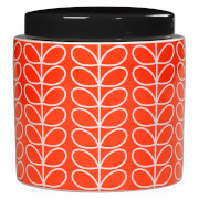 Orla Kiely Linear Stem Storage Jar - Persimmon