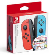 Nintendo Switch Neon Red Joy-Con (L) and Neon Blue Joy-Con (R) Controller Set + Snipperclips Digital Download