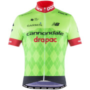 POC Cannondale Drapac Replica Short Sleeve Jersey - Black/Green/Red