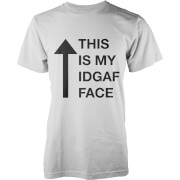T-Shirt Homme This Is My IDGAF Face - Blanc