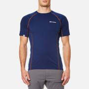Montane Men's Sonic T-Shirt - Antarctic Blue/Tangerine