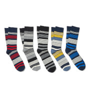 Jack & Jones Men's Luigi 5 Pack Socks - Multi - One Size