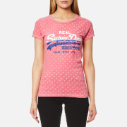 Superdry Women's Vintage Logo Overdyed T-Shirt - Fluro Pink