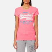 Superdry Women's Shirt Shop Duo T-Shirt - Snowy Fluro Pink