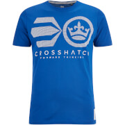 T-Shirt Homme Crossout Crosshatch -Bleu