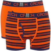 Lot de 2 Boxers Deckster Crosshatch - Orange