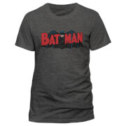DC Comics Batman Authentic Logo T-Shirt - Grau