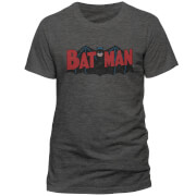 DC Comics Batman Authentic Logo T-Shirt - Grey