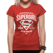 DC Comics Women's Supergirl Better Than Ever T-Shirt - Red
