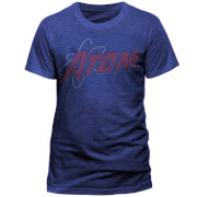 T-Shirt DC Comics Atom Distressed Logo -Bleu