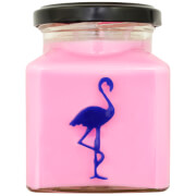 Raspberry and Salted Caramel Flamingo Candle