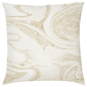 Marble Print Cushion - Gold