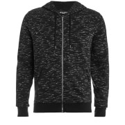 Brave Soul Men's Territory Zip Through Hoody - Black