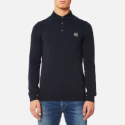 BOSS Orange Men's Paulyn Long Sleeve Polo Shirt - Dark Blue