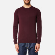 BOSS Orange Men's Albonon Merino Crew Knitwear Jumper - Open Red