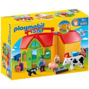 Playmobil 1.2.3: Meeneemboerderij met dieren (6962)