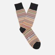 Paul Smith Men's Multi Stripe Socks - Classic Brown